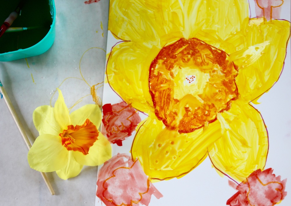 georgia o'keefe daffodil on yupo paper