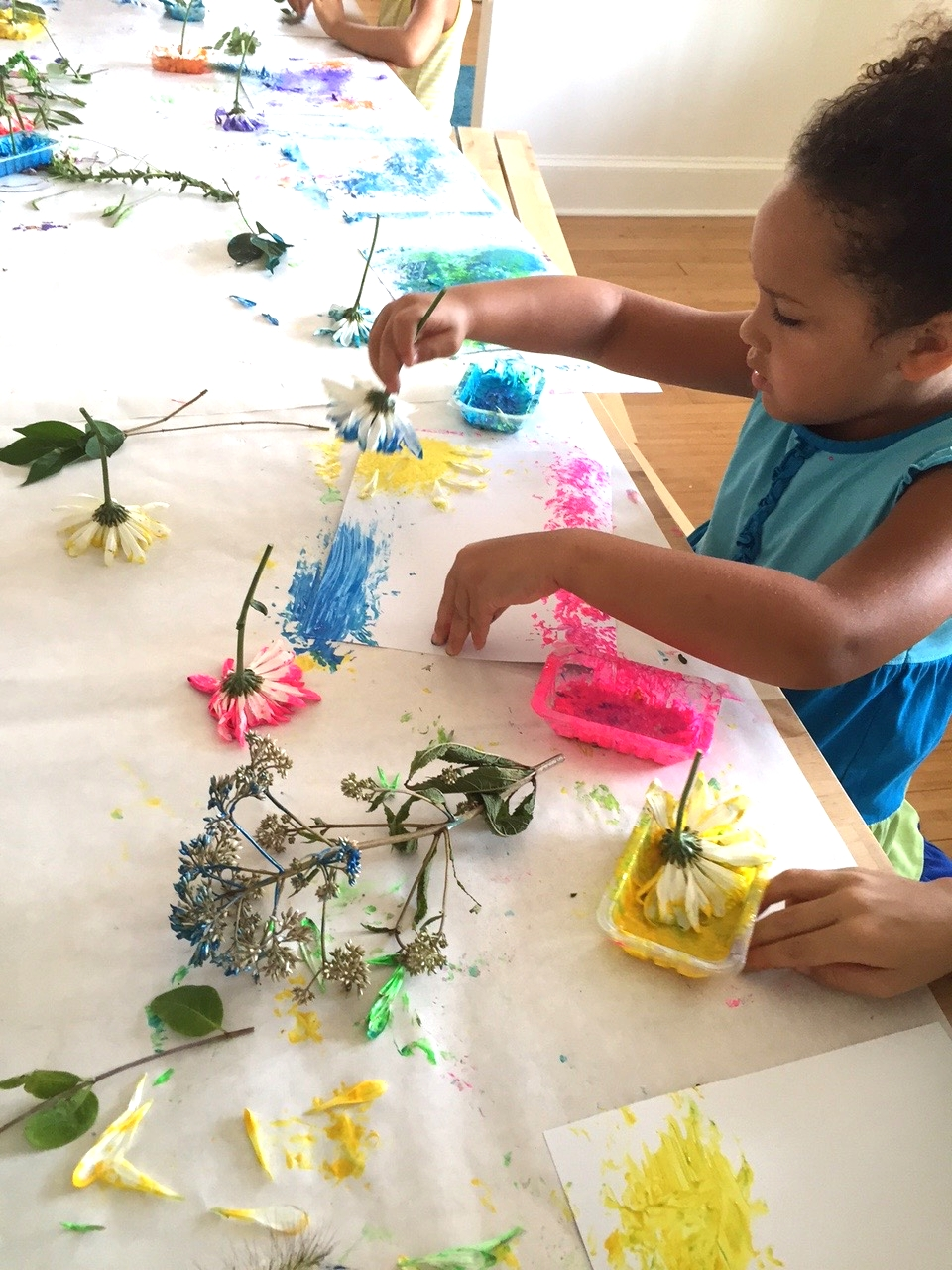 Painting with flowers.