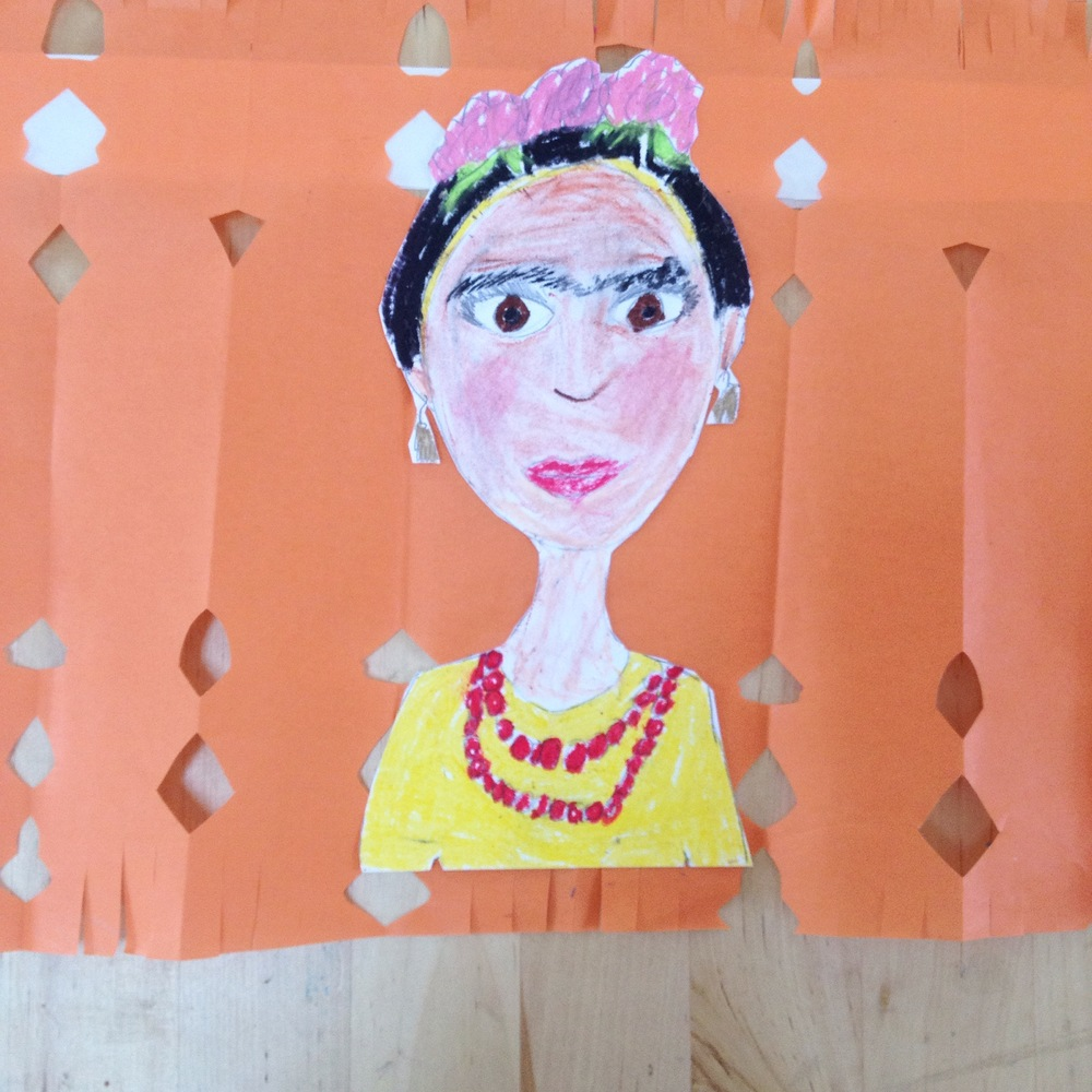 an ode to frida, papel picado