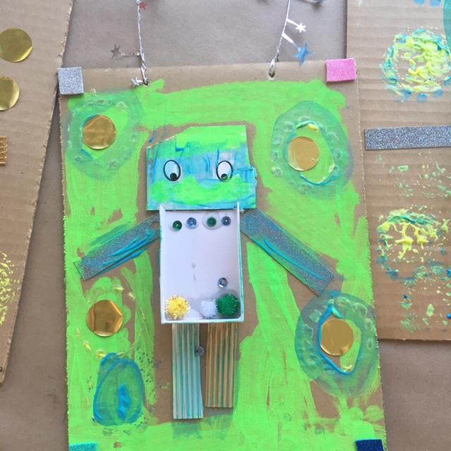 Robot/ Alien Collage