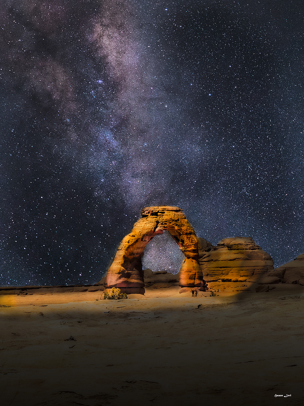 Delicate Arch Under the Stars