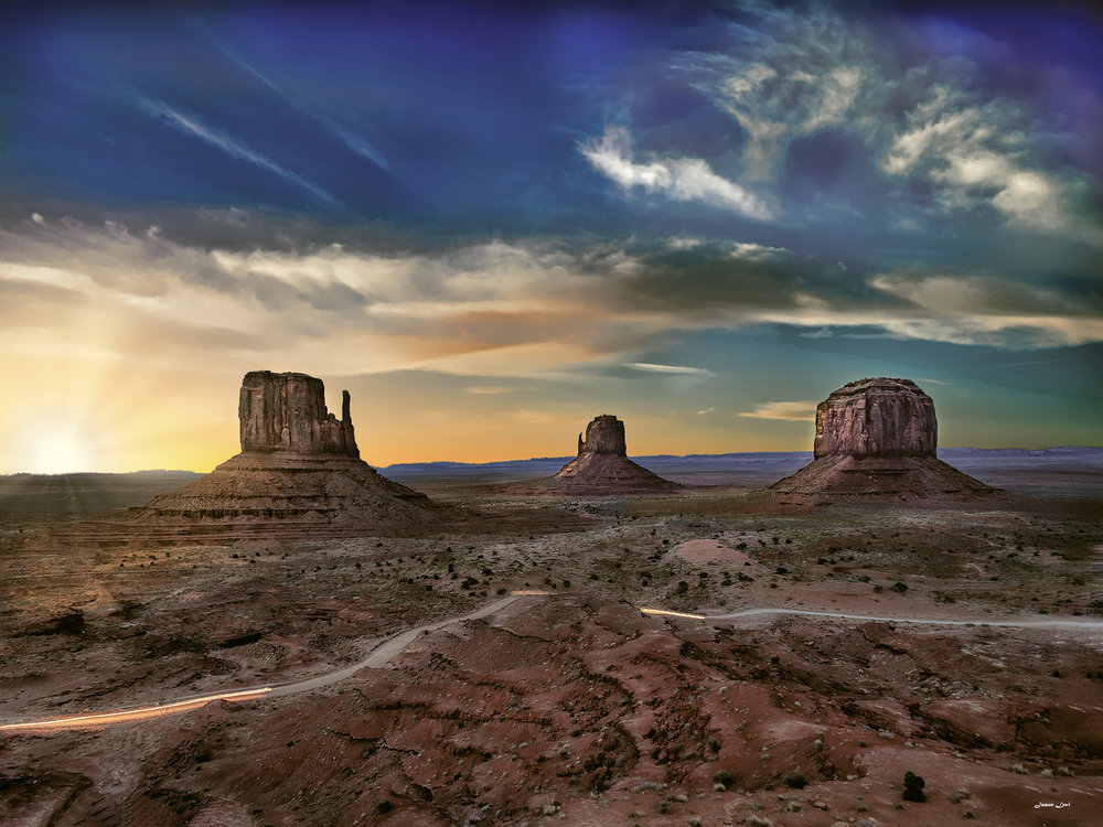 THE THREE KINGS OF MONUMENT VALLEY