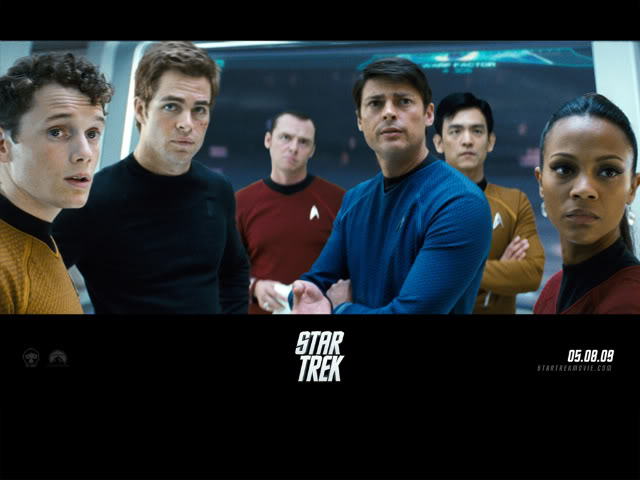 The crew of the Enterprise 2009