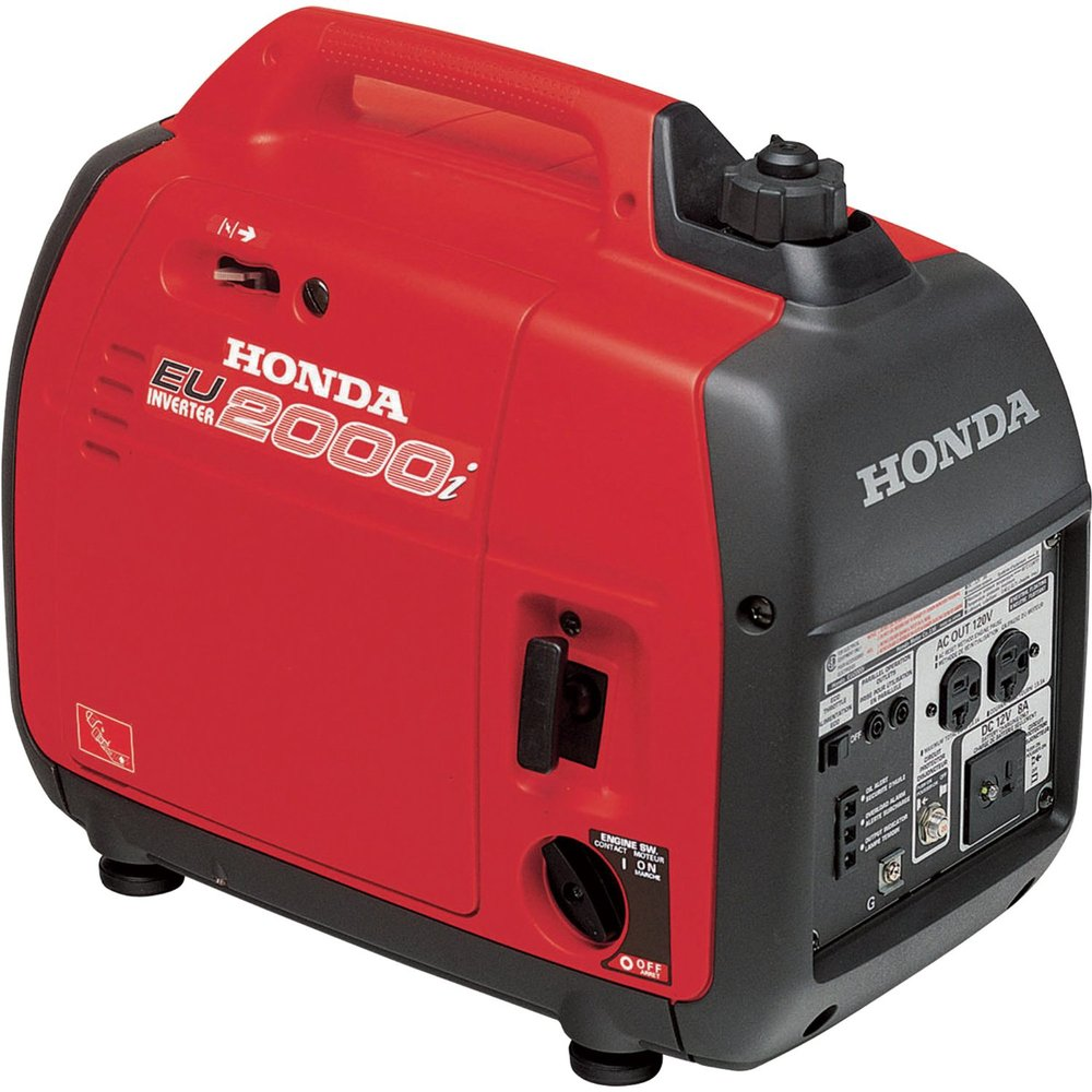 Honda Eu2000i Super Quiet Portable Gas Powered Generator Power Inverter 2000, 120v