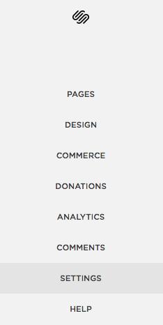 """In your admin menu Click """"Settings"""""""
