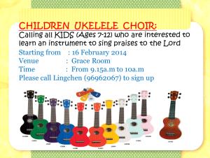 ukelele choir enrolment 16022014