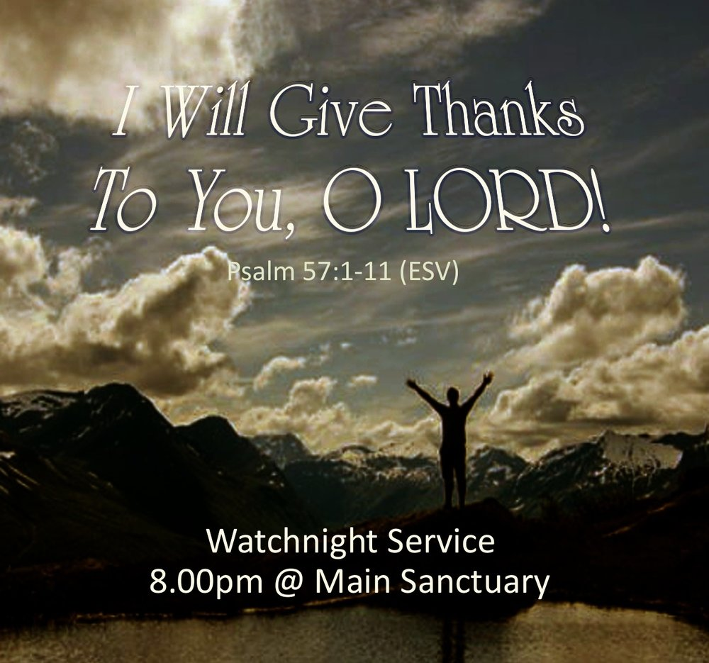 You're invited! - Join us for this last worship service of the year.Pre-worship singing starts at 7.45pm.Holy Communion will be served.