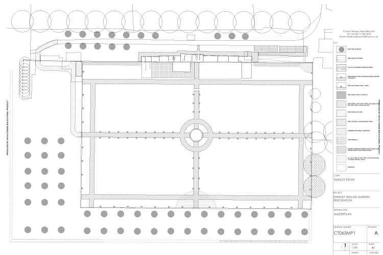 Our detailed design drawing to inform the garden's restoration.