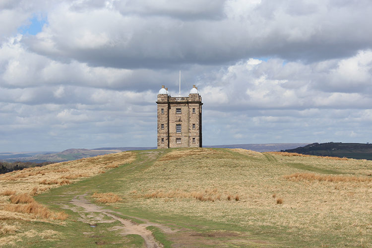 The iconic 'Cage' overlooking Lyme Park.
