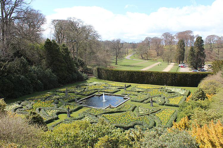The restored Dutch Garden at Lyme Hall.