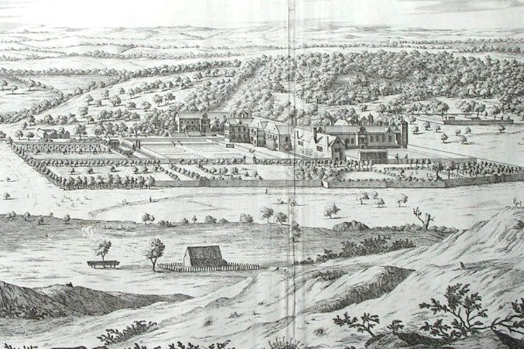 Kipp & Knyff engraving of the Tudor garden