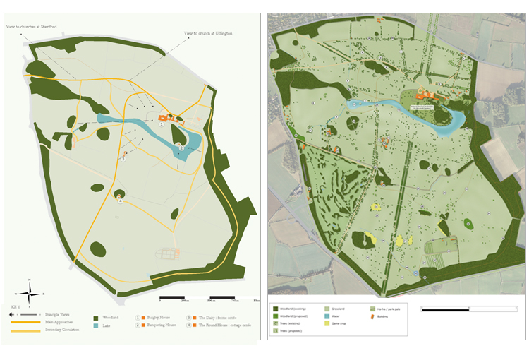 Concept & masterplan we prepared for the site