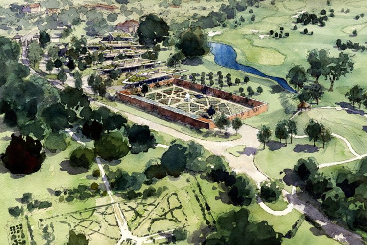 Artist's impression of our new landscape scheme