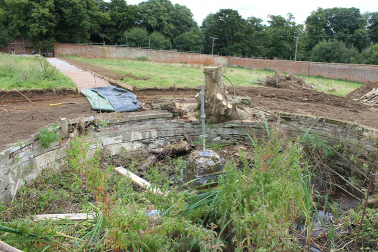 The dipping pond prior to restoration...