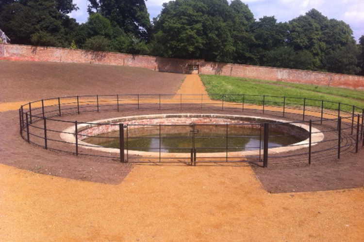 The dipping pond after restoration