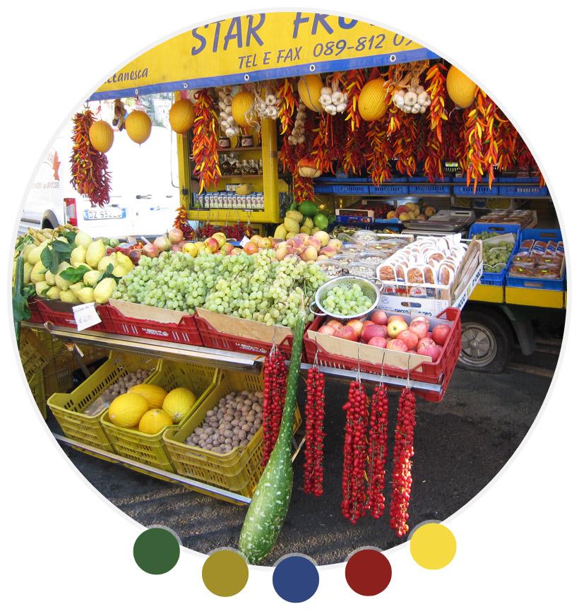 Star Frutta fruit truck, Positano, 2010.