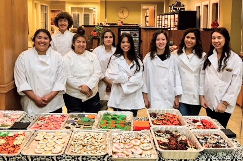 Culinary Arts students, guided by Mrs.Cantu, provided sweets for the Lytle Bank Customer Appreciation day. Click here to see more pics!