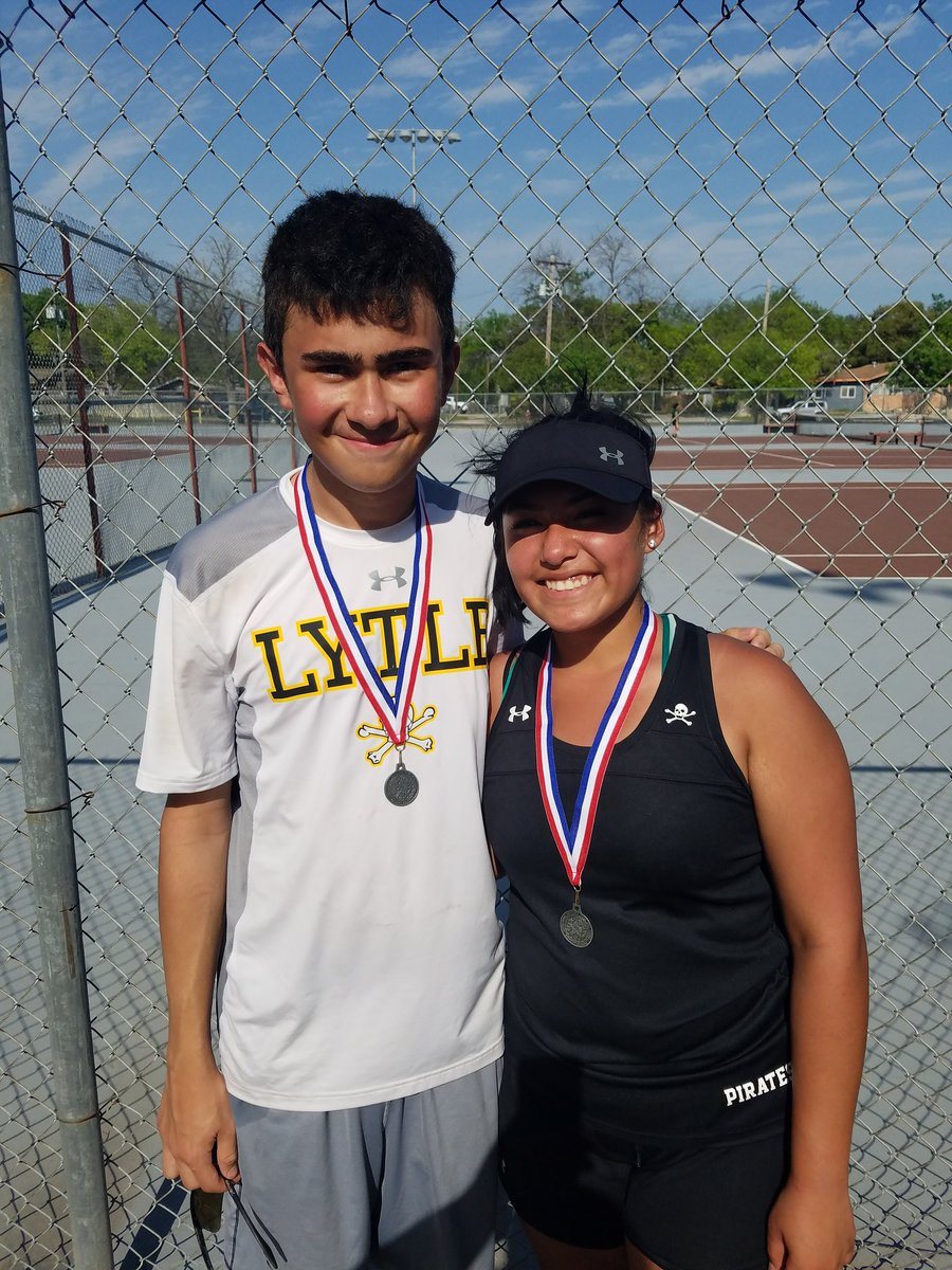 Congrats to Josh Rubio and Jasmine Munoz, 29 AAAA JV Mixed doubles 2nd place winners!