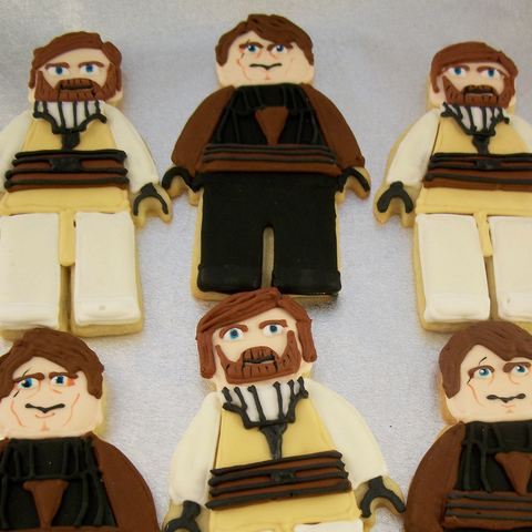 Lego Obi Wan and Anakin Cookies