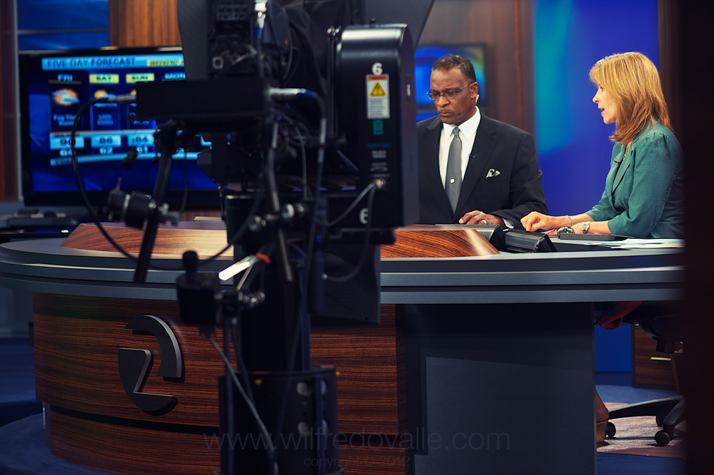 Dave and Tori on the 7am-9am Broadcast at the KTVU HQ.