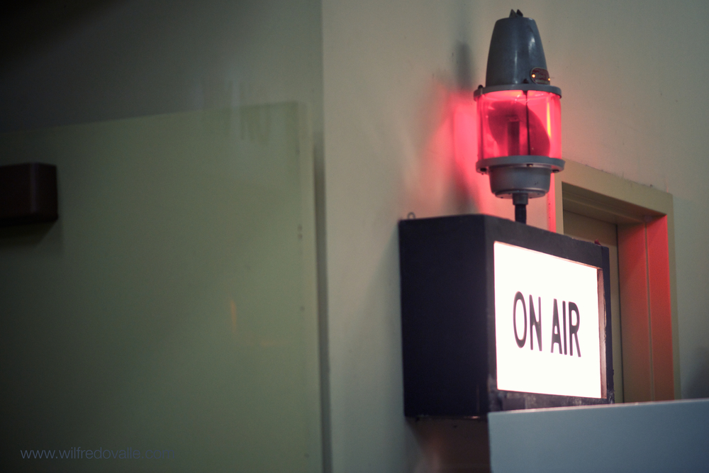 On the Air - in other words be quiet.