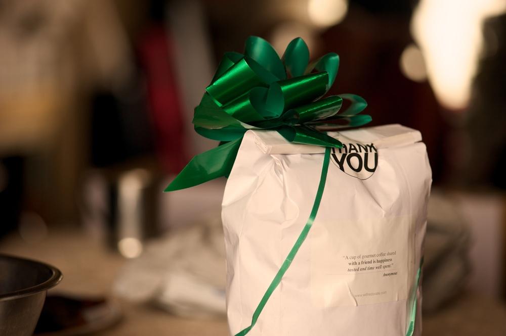 Thank you gift bag. (backside)