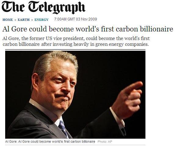 Figura 12. Nota del 2009 sobre el enriquecimiento de Al Gore.