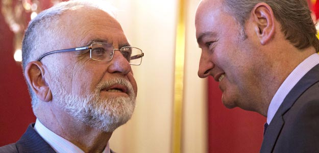 Juan Cotino (izquierda) yAlberto Fabra (derecha)