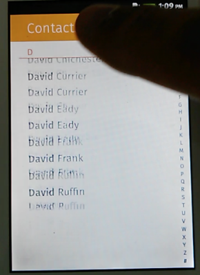 The blank white space at the bottom underneath 'David Ruffin' is checkerboarding.