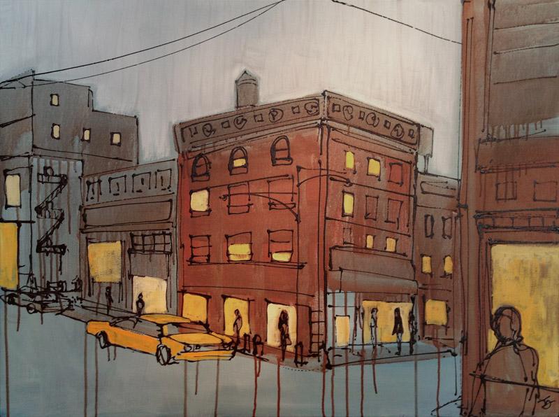 """Hey You! 30"""" x 40"""" Acrylic on Canvas 2012 2900.00 USD"""