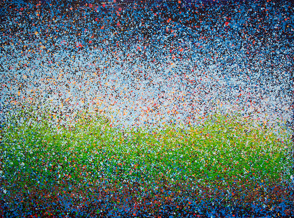 "Light Field Configuration 30"" x 40"" Acrylic on Canvas 2012 3600.00"