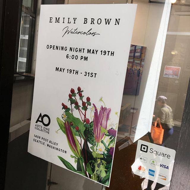 On May 19th we are hosting @iamemily at 1408 Post alley to showcase her latest works on watercolor. Please join us at 6pm to view the work and celebrate Emily's amazing talent!