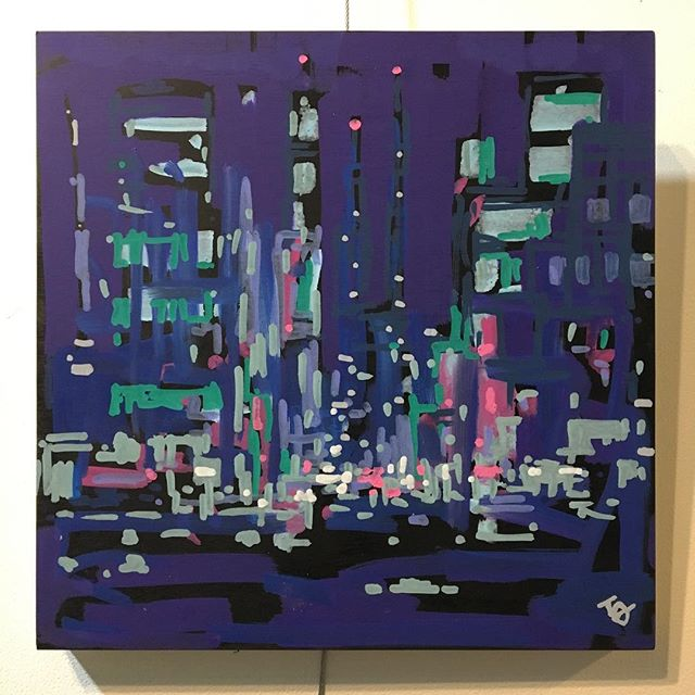 "New 10""x10"" cityscapes on wood panels. . . . . #tonytaj #art #artist #painting #graffiti #popart #illustration #molotow #streetart"