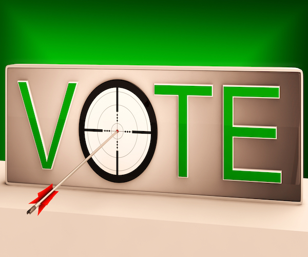 Vote Target Shows Evaluation Choice And Decision