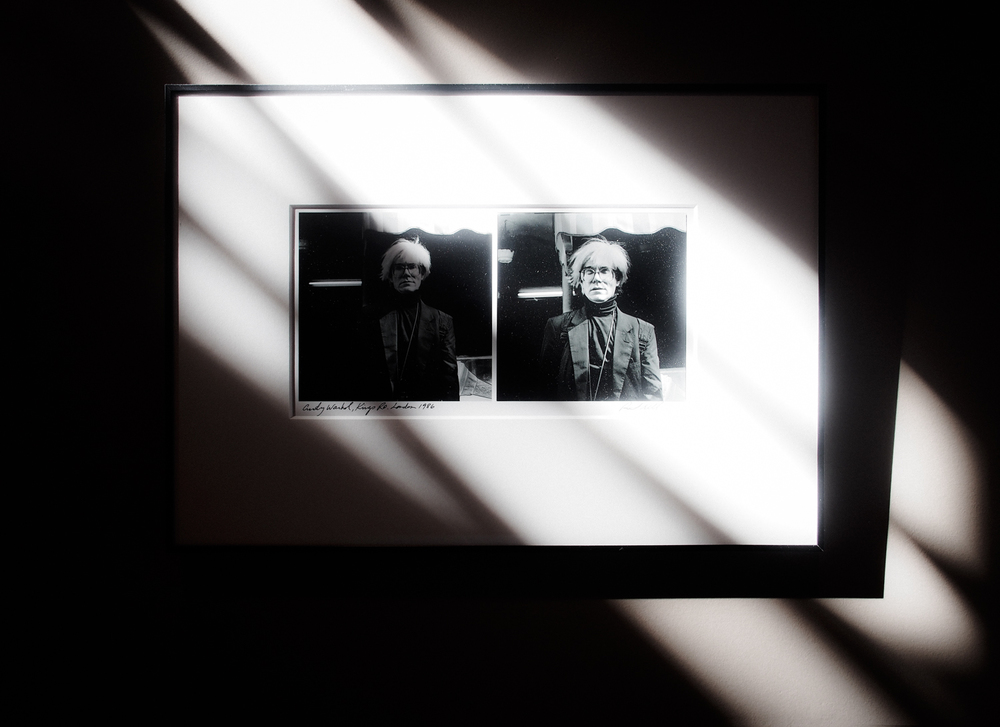 Andy Warhol -  photo by: Richard Krall  - sits above my workspace