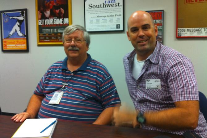 Brian Lusk and Chris Ronan at SWA HQ