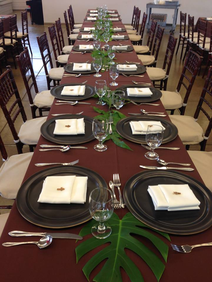 Before the guests arrived for the Discernment and Visioning Dinner