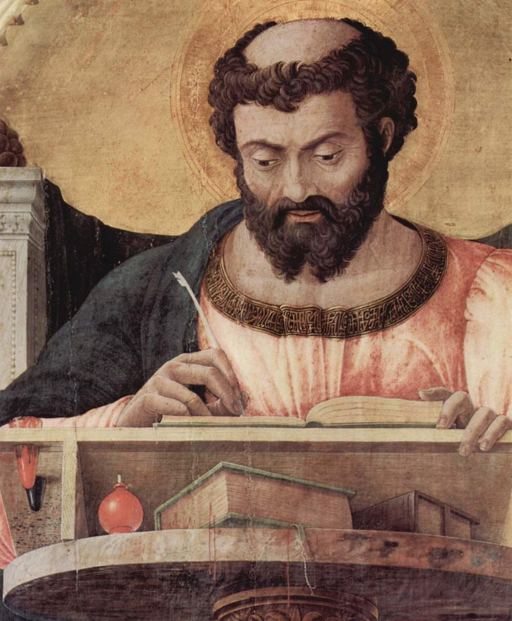 Detail of St. Luke from an altar piece by Andrea Mantegna (1431-1506)