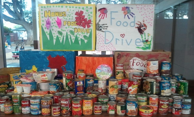 The Preschool Food Collection for the Homeless and Hungry