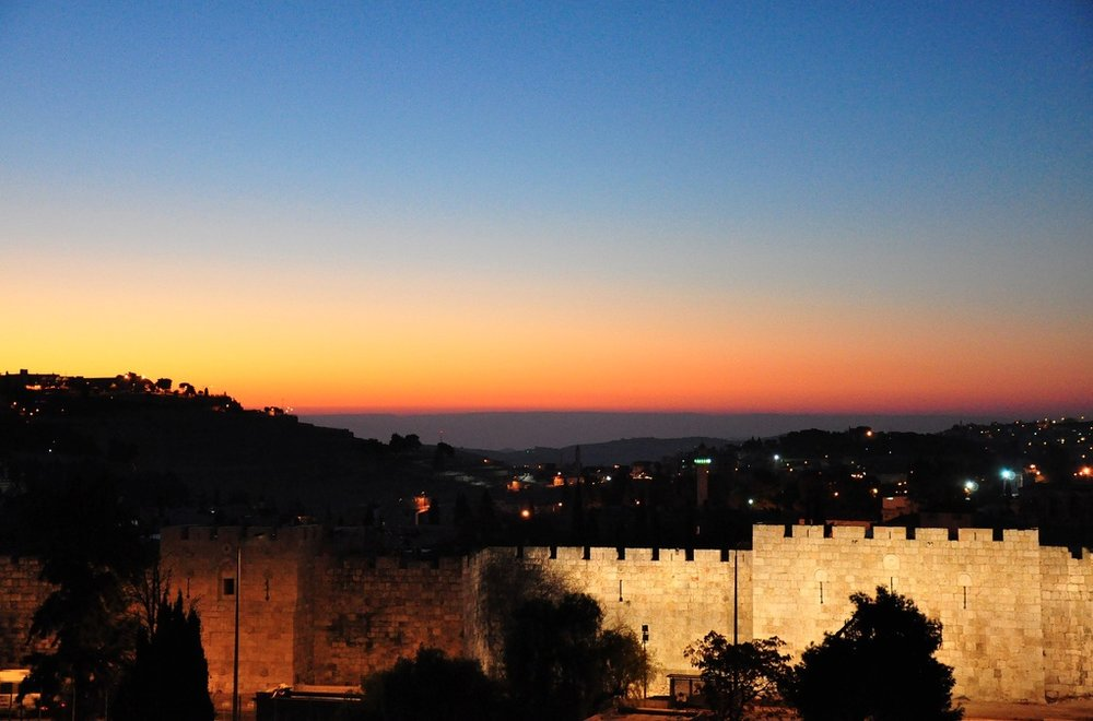 The Old City of Jerusalem at Sunrise