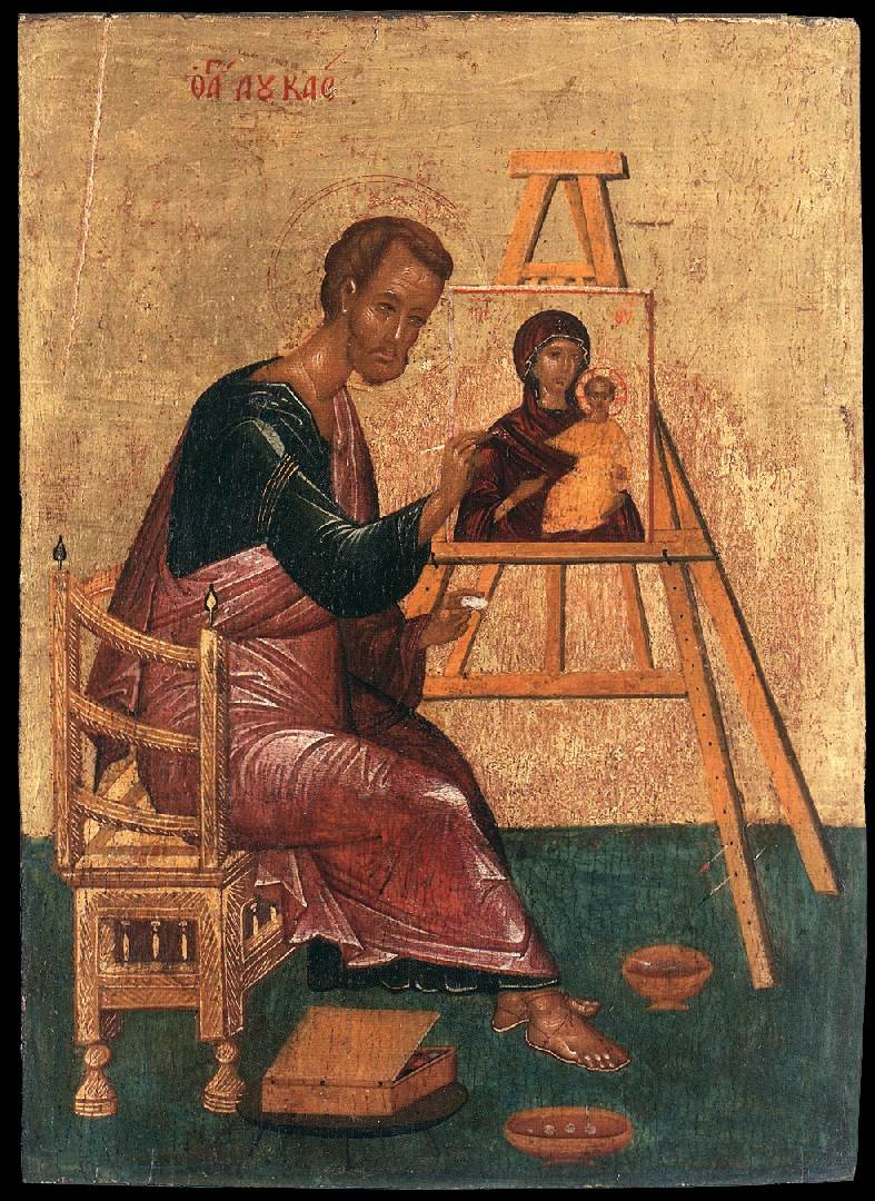 St. Luke painting the Blessed Virgin Mary