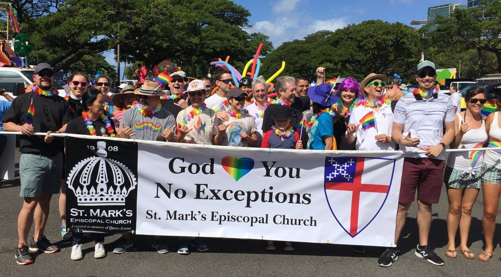 St. Mark's and Friends gather for the honolulu Pride Parade