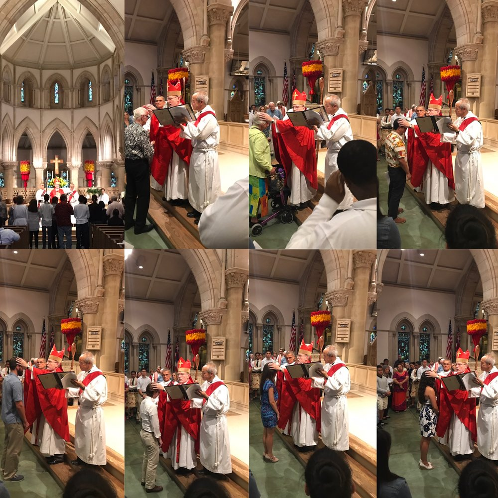 Last year's confirmation mass at St. Andrew's Cathedral
