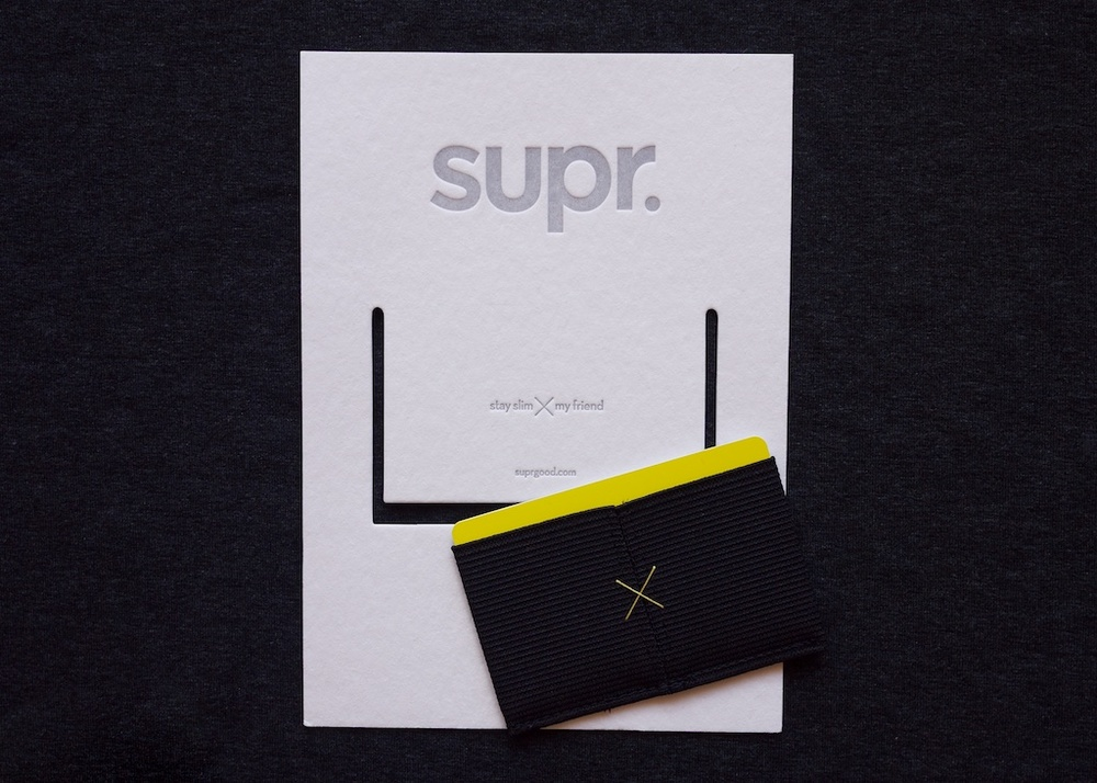 Supr Slim Wallet Packaging open