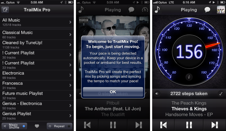 TrailMix Pro Review - iPhone app Screens