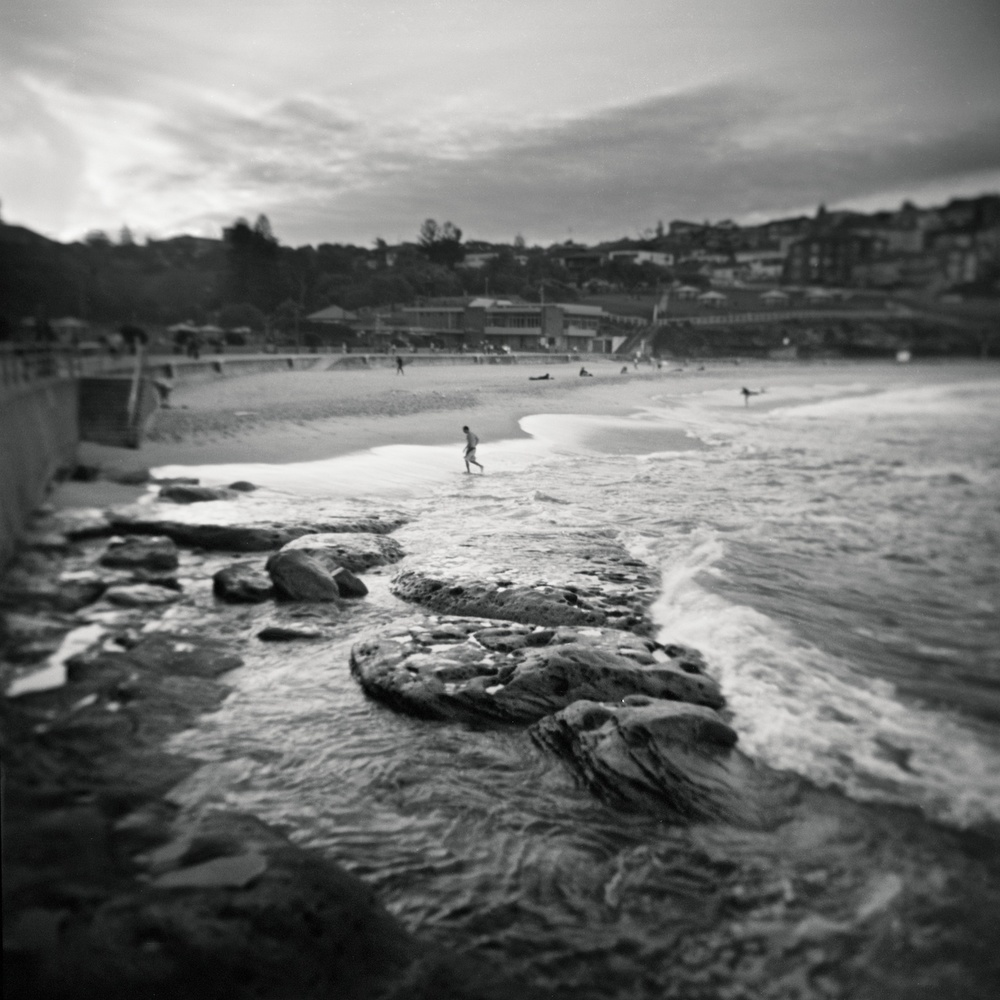 Bronte Beach, Australia. Photographed with a Holga.