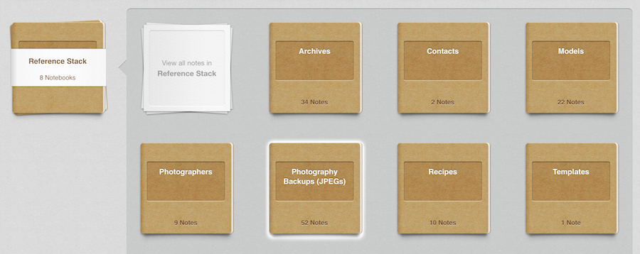 Evernote Photography Backup Notebook