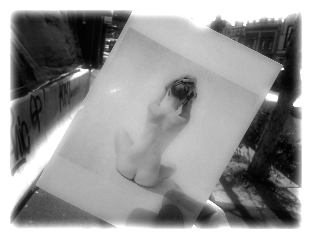 A photograph of a test print taken on the way to the printer. The final version won an award at a student exhibition in the Australian Centre for Photography in 2009