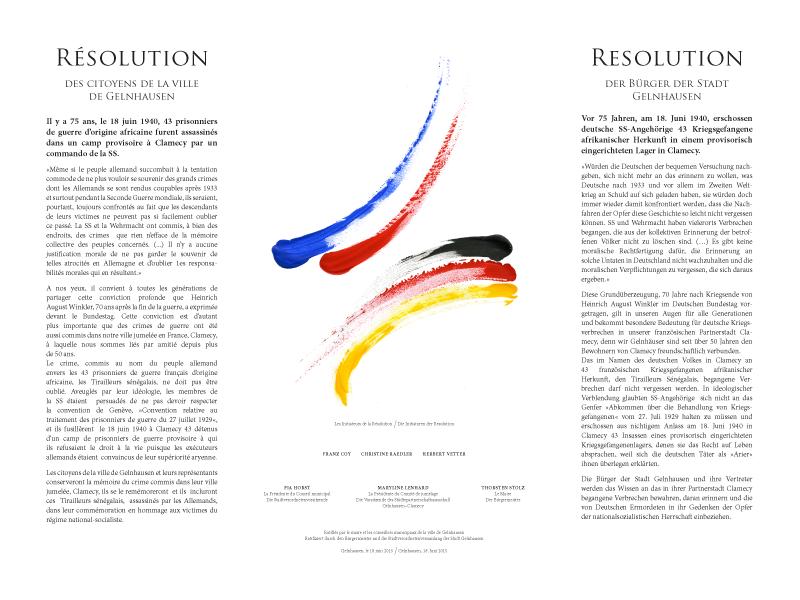 Resolution der Bürger der Stadt Gelnhausen