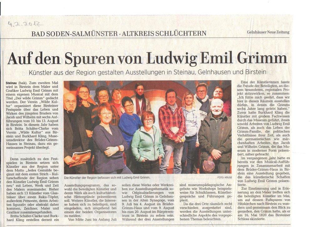 Gelnhäuser Neue Zeitung (GNZ) vom 4. Februar 2017